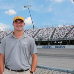 Raceway intern carrying on the family tradition