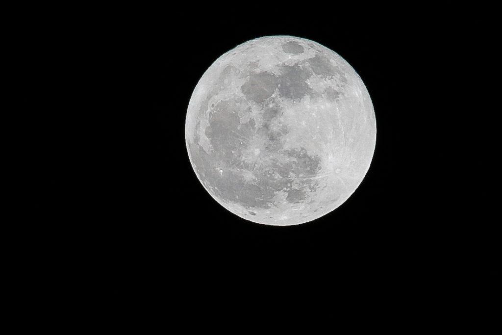 Cold Moon over Darlington